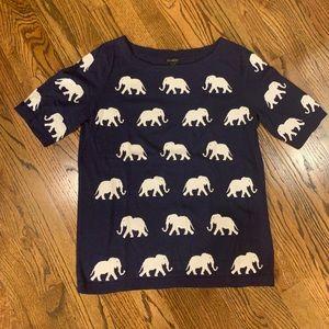 Short Sleeve Elephant Sweater